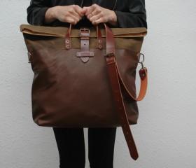 Weekend bag, snuff brown color