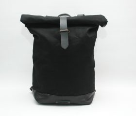 Waxed Canvas Backpack,black  color