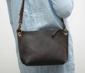 Leather messenger  bag ,chocolatte distressed color
