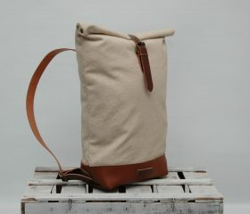Canvas backpack,Natural color(unwaxed)