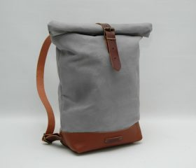 Waxed canvas backpack,Light Grey Color 14oz
