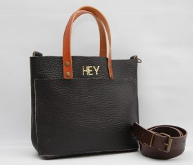 Leather tote Bag chocolatte color